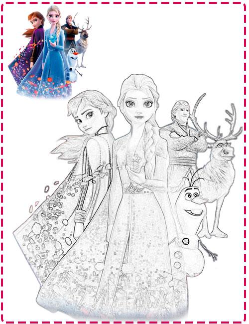 Dibujos de Frozen para imprimir