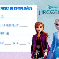 Invitaciones de Cumpleanos de Frozen II