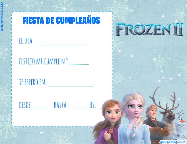 Frozen 2 Tarjetas de Cumpleanos
