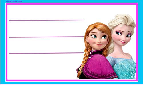 Anna&Elsa School Labels