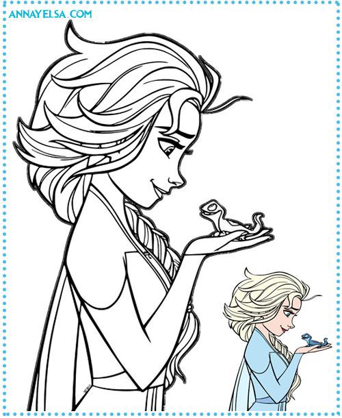 Elsa SnowQueen coloring pages