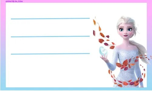 Etiquetas escolares Elsa Frozen 2