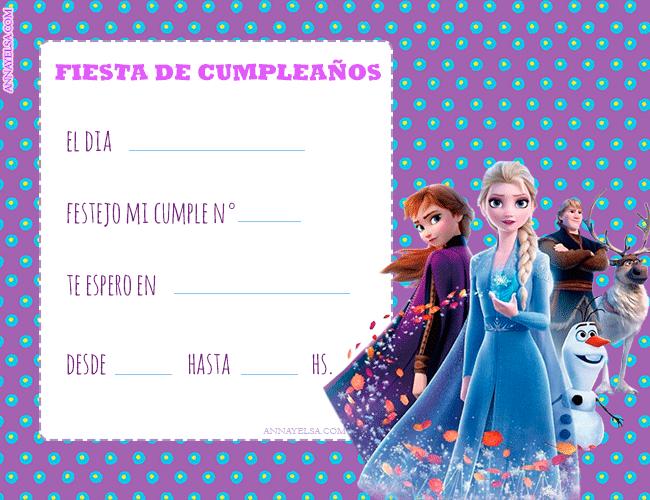 Invitaciones de Frozen II