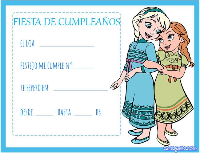 Frozen tarjetas de cumpleanos
