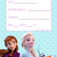 Invitaciones de cumpleaños de Frozen II