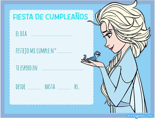 Invitaciones de Elsa Frozen Convite