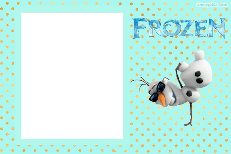 Olaf Frozen tarjetas fiesta