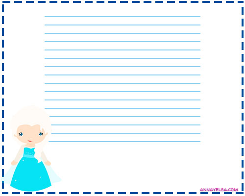 Free printables frozen letter papers