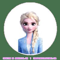 Etiquetas redondas Frozen Fever gratis