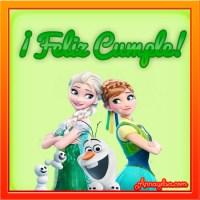 Imágenes de Frozen con frase Feliz Cumpleaños