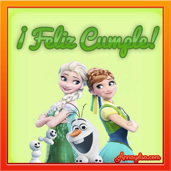 Imagenes de Frozen Feliz Cumple