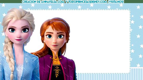Tarjetas Frozen 2