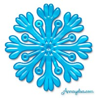 Copos de Nieve estrella de Frozen para imprimir y decorar