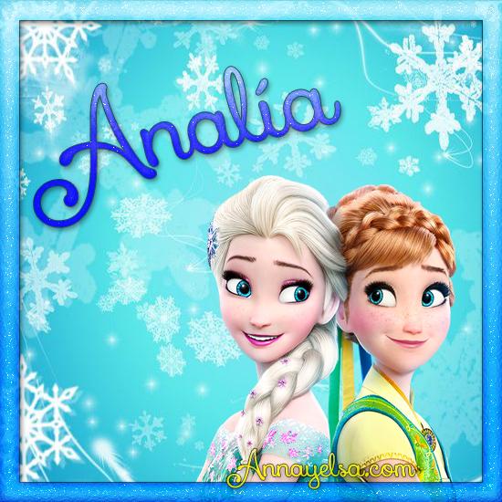 Imágenes de Frozen con nombre Analia