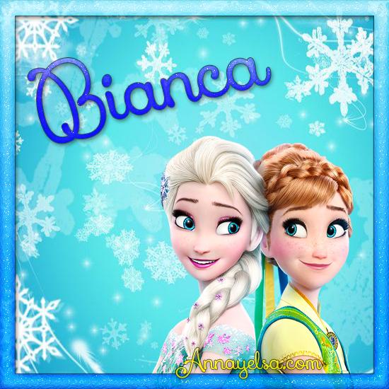 Imagen de Frozen con nombre Bianca