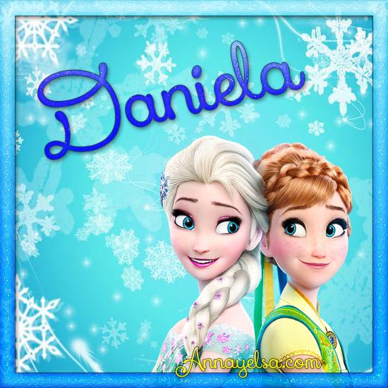 Imagen de Frozen con nombre Daniela