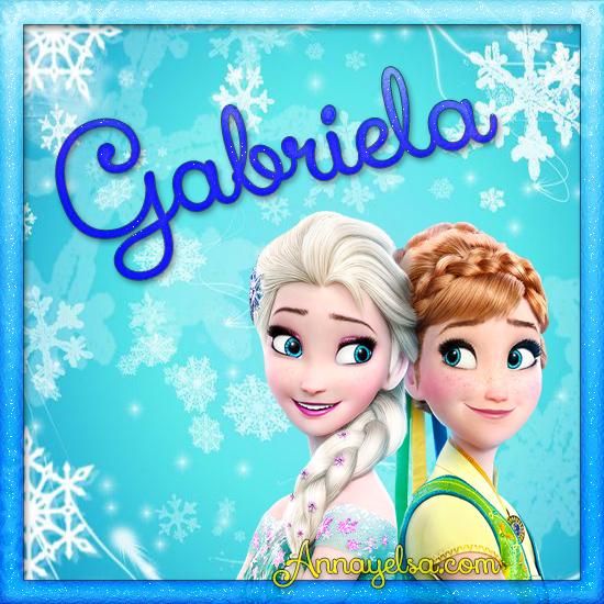 Imagen de Frozen con nombre Gabriela