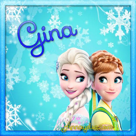 Imagen de Frozen con nombre gina