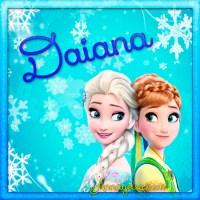 Imágenes de Frozen con nombres: Letra D