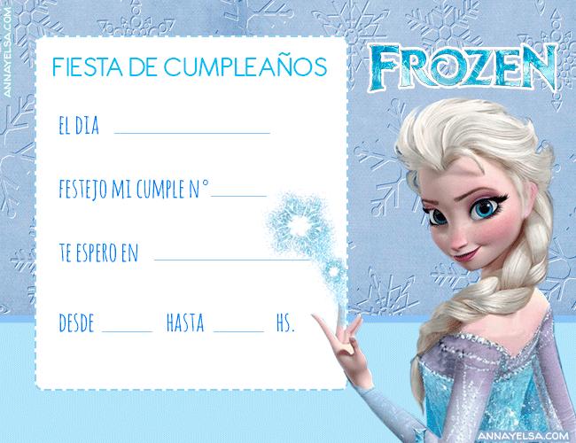 Convite Frozen Elsa Invitaciones