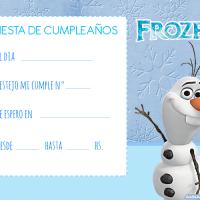 Invitaciones de cumpleanos de Frozen para descargar gratis