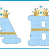 Abecedario letras Frozen con coronas