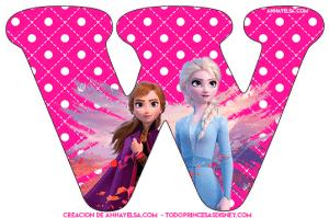 Abecedario de Frozen Letras para imprimir