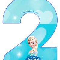 Números de Frozen para descargar e imprimir