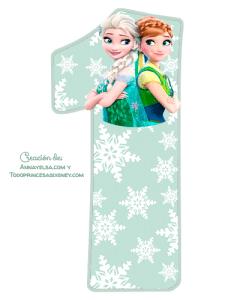 1 Numeros de Frozen 2 para imprimir gratis