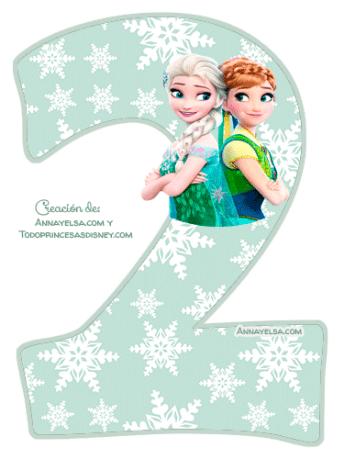 2 Numeros Frozen fever para descargar