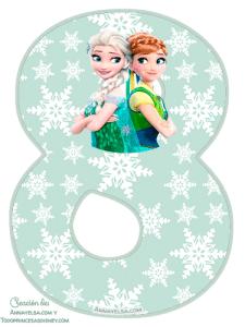 8 Numeros Frozen fever