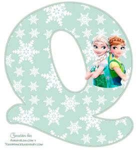 Alfabeto Frozen 2 Elsa y Anna