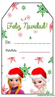 Tarjetitas Navidad Frozen
