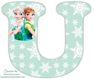 Molde letras Frozen fever