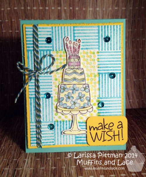 Faux Quilted Background Birthday Card