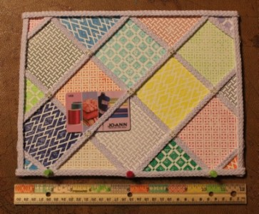 Faux Quilted Memo Board Ann Butler Designs