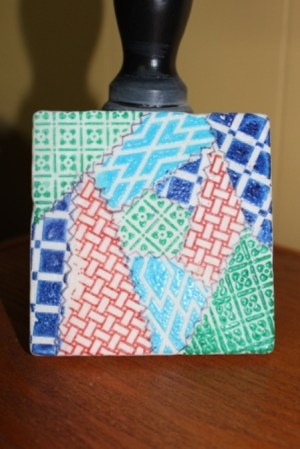 Faux Quilted Marble Coaster Ann Butler Designs