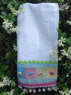 Anthropologie Inspired Faux Quilted Kitchen Towel