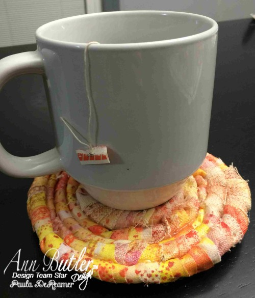 Fabric Coil Coaster created by Design Star Paula for Ann Butler Designs