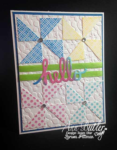 Faux Quilting Card