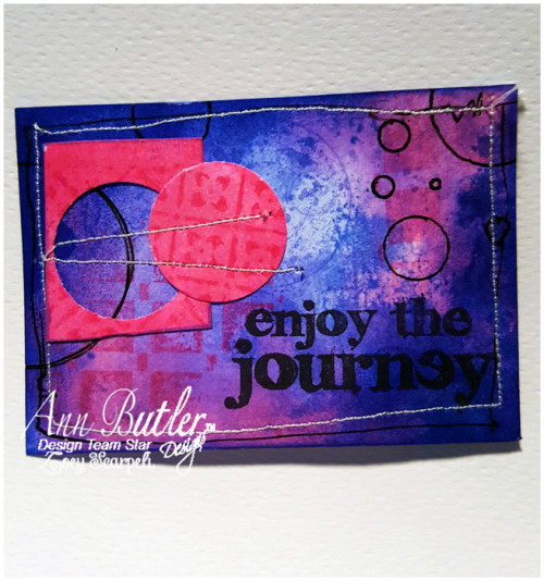 ATC with Colorbox Crafters Ink