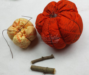 Ann Butler Quilted Pumpkins create stems CWindham 11