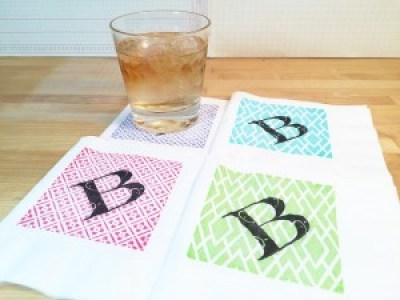 30 Minute Monogram Cocktail Napkins