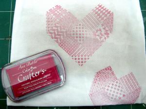 Valentine heart treat bag Ann Butler