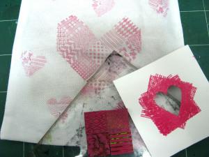 Valentine heart treat bag