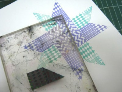 Faux Quilted Star Card