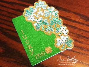 Faux Quilted St. Patricks Card