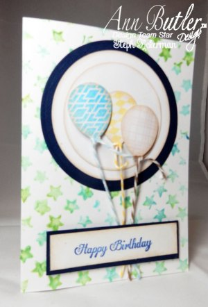 Happy Birthday Stenciled Balloon Card
