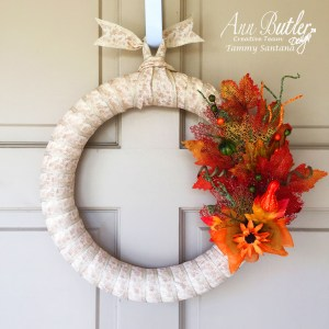 Rubber Stamped Fall Wreath