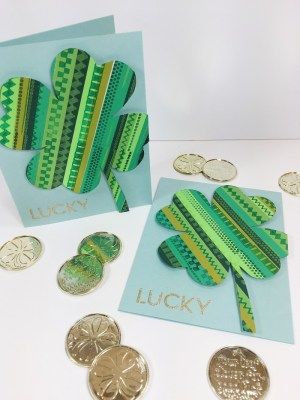 Ann Butler Designs QUICK AND EASY LUCKY SHAMROCK NOTE CARDS BETH WATSON